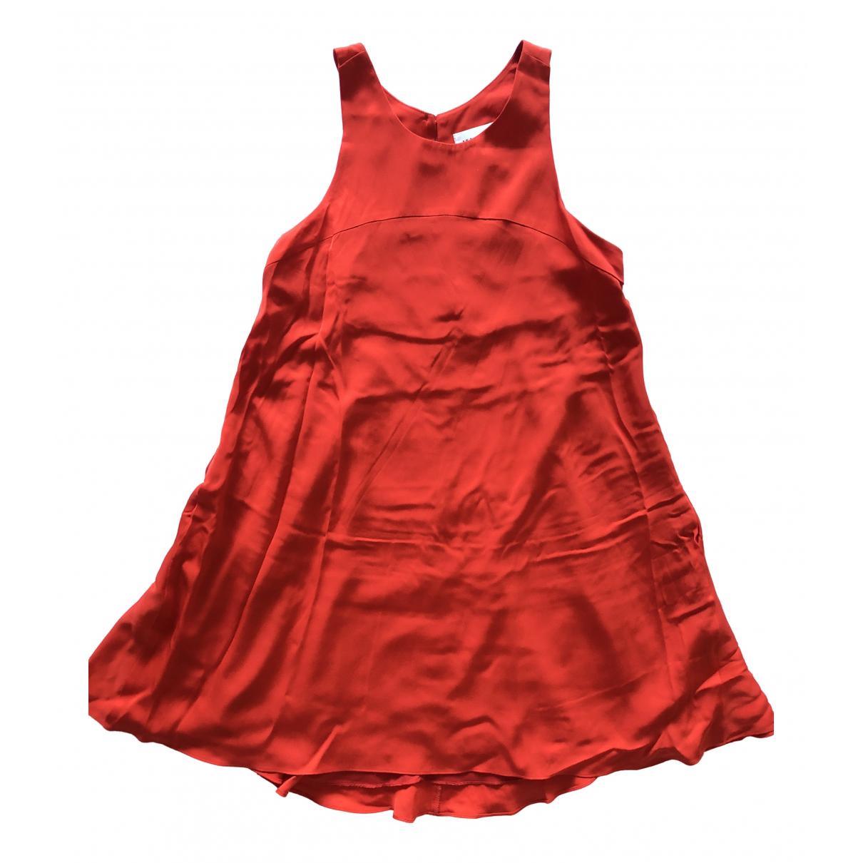 Milly \N Kleid in  Rot Seide
