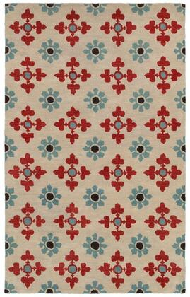 OPUOP809400370810 Opus OP8094-8' x 10' Hand-Tufted 100% Wool Rug in Ivory  Rectangle