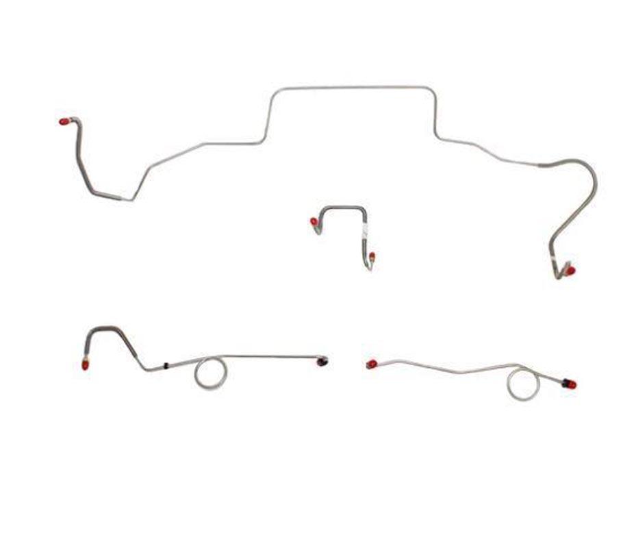 Fine Lines BLH108SS Complete Brake Line & Hose Kit For 68-69 Mopar B-Body Power Disc Brakes Left Ported Master Cylinder Right Front to Fender Then Ris