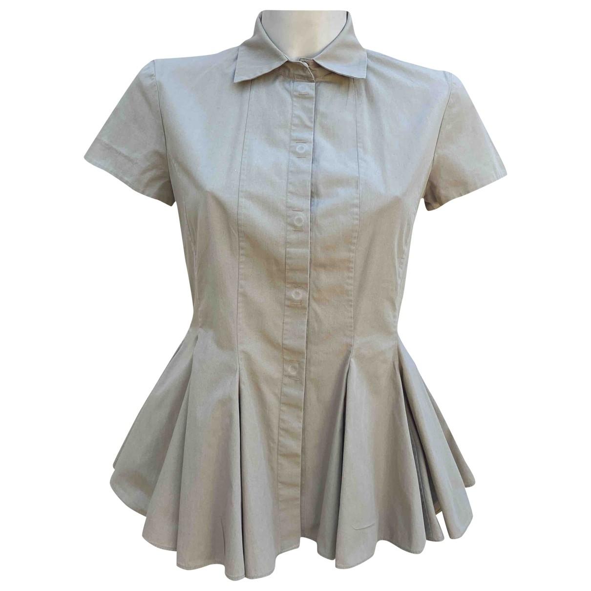 Giambattista Valli \N Beige Cotton  top for Women 42 IT