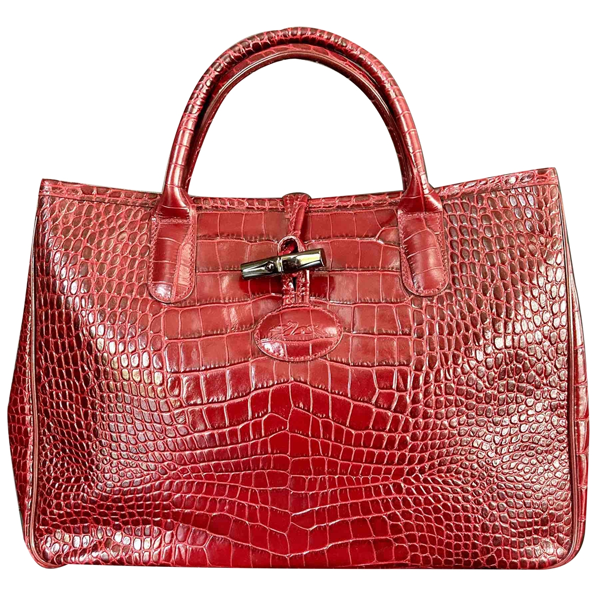Longchamp Roseau Burgundy Leather handbag for Women \N