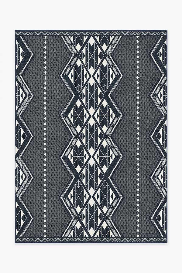Washable Rug Cover & Pad | Halona Midnight Rug | Stain-Resistant | Ruggable | 5'x7'