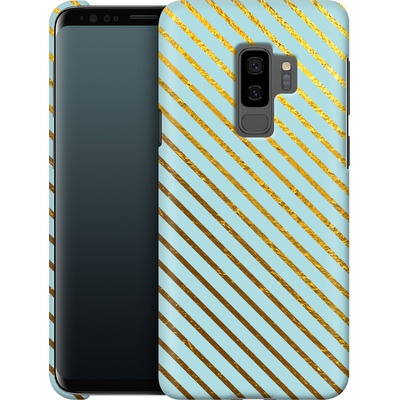 Samsung Galaxy S9 Plus Smartphone Huelle - Gold Foil Stripe von Khristian Howell