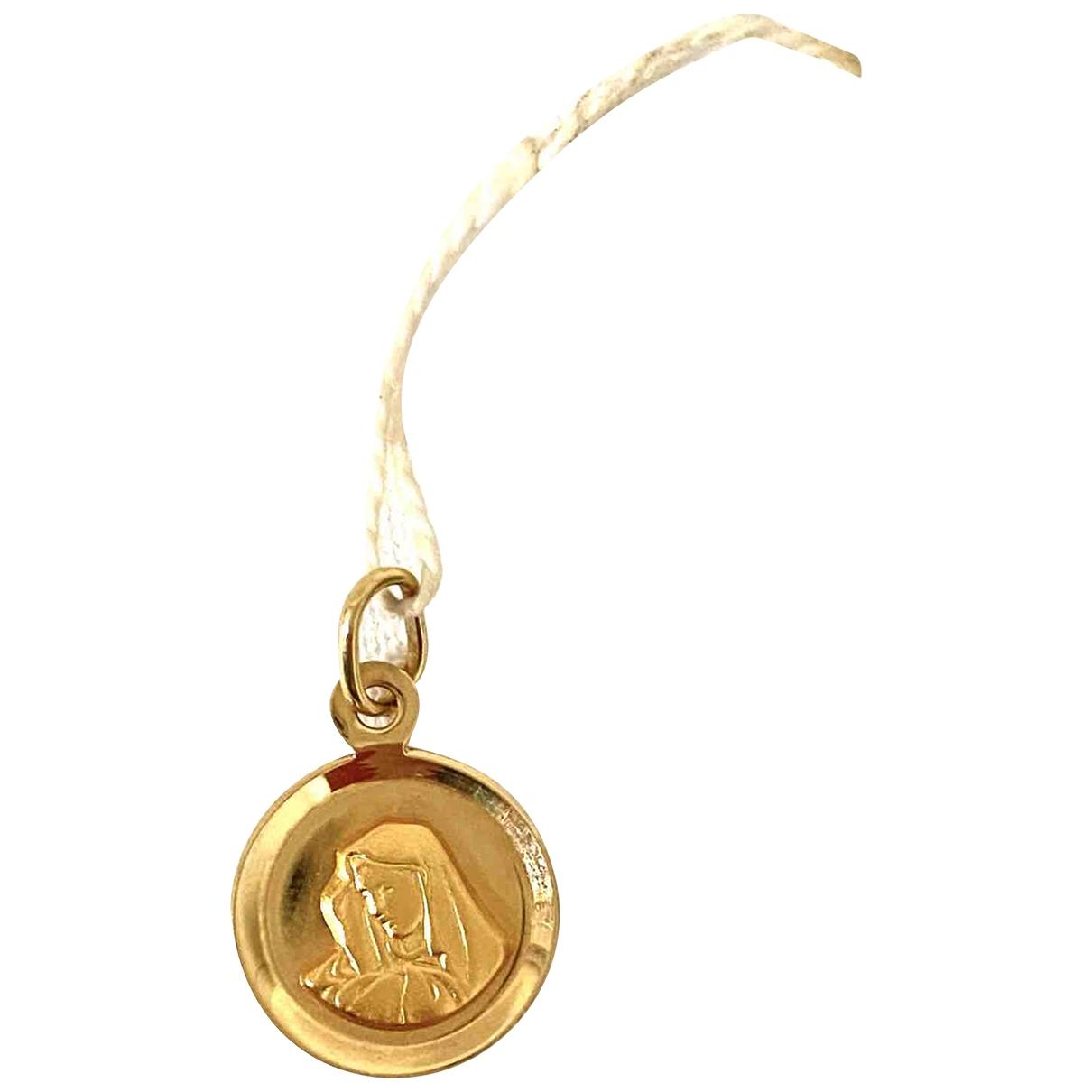 - Pendentif Medailles pour femme en or jaune - dore