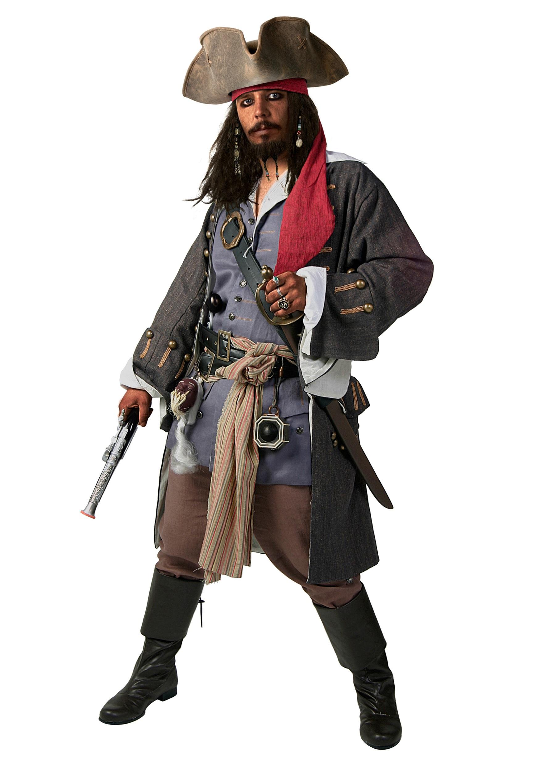 Plus Size Realistic Caribbean Pirate Costume 2X