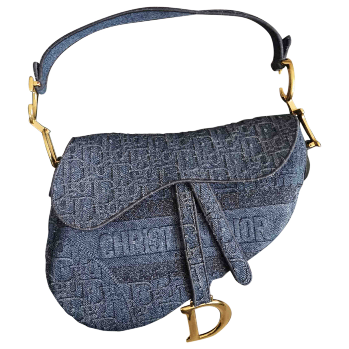 Dior Saddle Blue Cotton handbag for Women \N