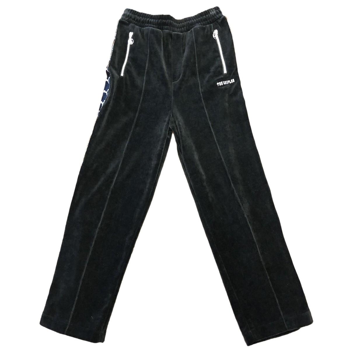The Kooples \N Black Cotton Trousers for Women XS International