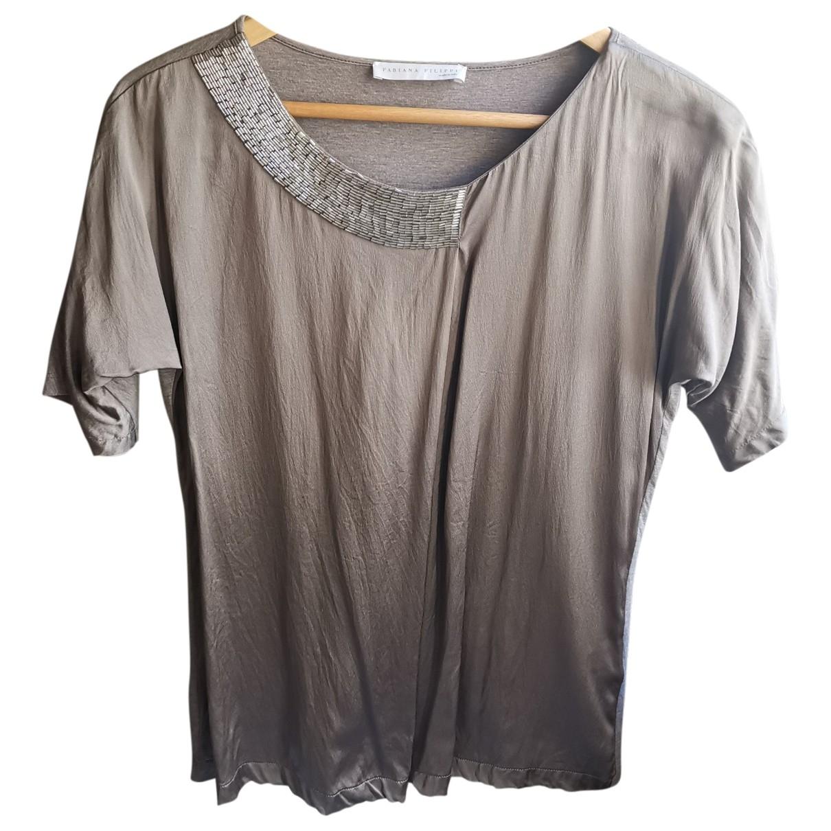 Fabiana Filippi \N Grey Silk  top for Women 36 FR