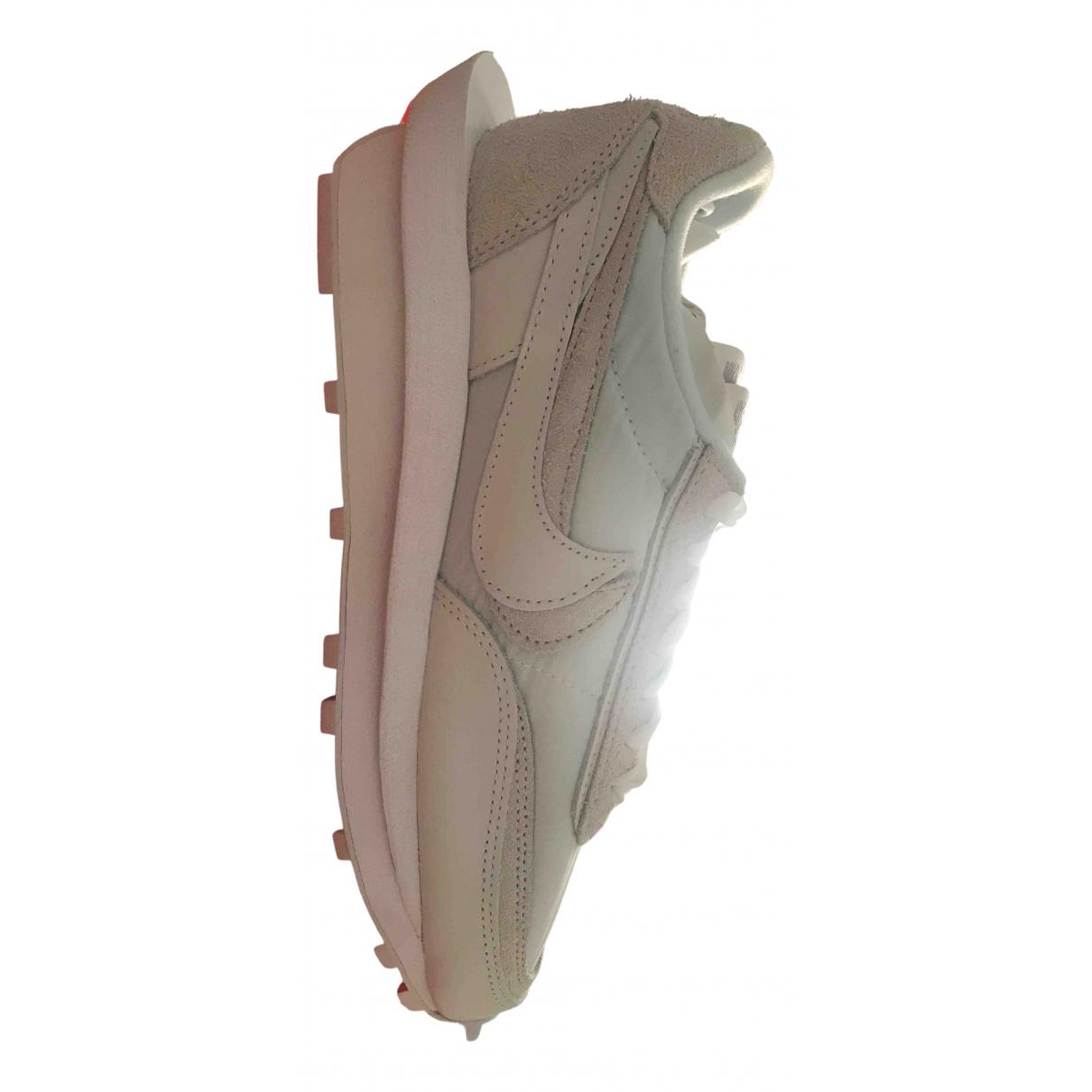 Nike X Sacai - Baskets LDV Waffle pour homme en toile - blanc