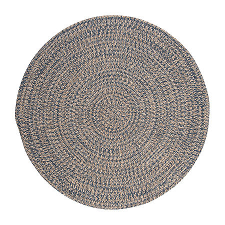 Colonial Mills American Tweed Braided Round Reversible Indoor Rugs, One Size , Blue