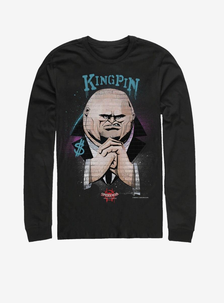 Marvel Spider-Verse Kingin Brick Wall Long-Sleeve T-Shirt