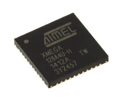 Microchip ATXMEGA128A4U-MH, 8/16bit AVR Microcontroller, AVR XMEGA, 32MHz, 128 + 8 kB Flash, 44-Pin VQFN