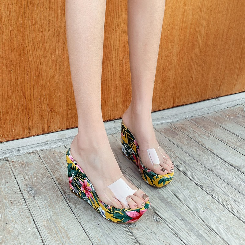 Ericdress Slip-On Platform Flip Flop Rubber Slippers