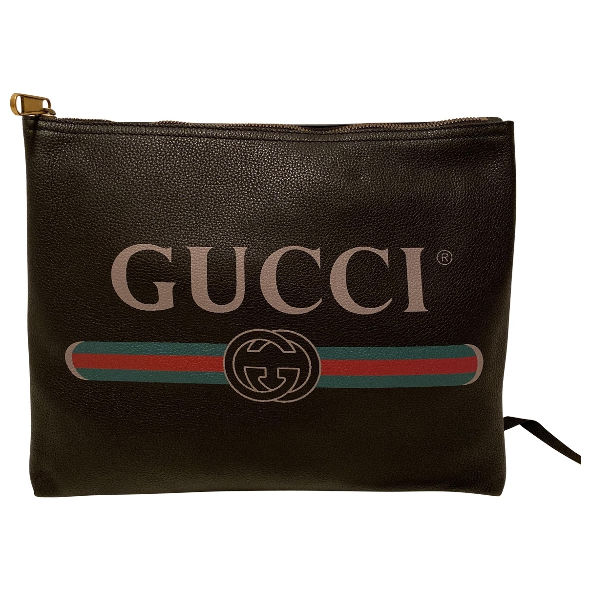 Gucci \N Black Leather Small bag, wallet & cases for Men \N