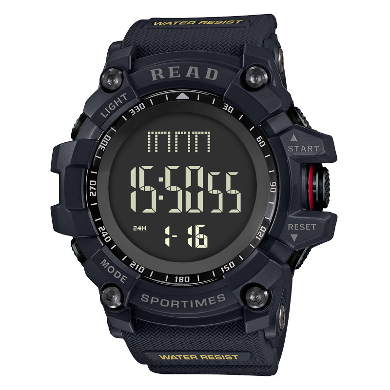 READ Sport Digital Wrist Watch Multifunction Luminous Display Fashion Time Alarm Watches for Men