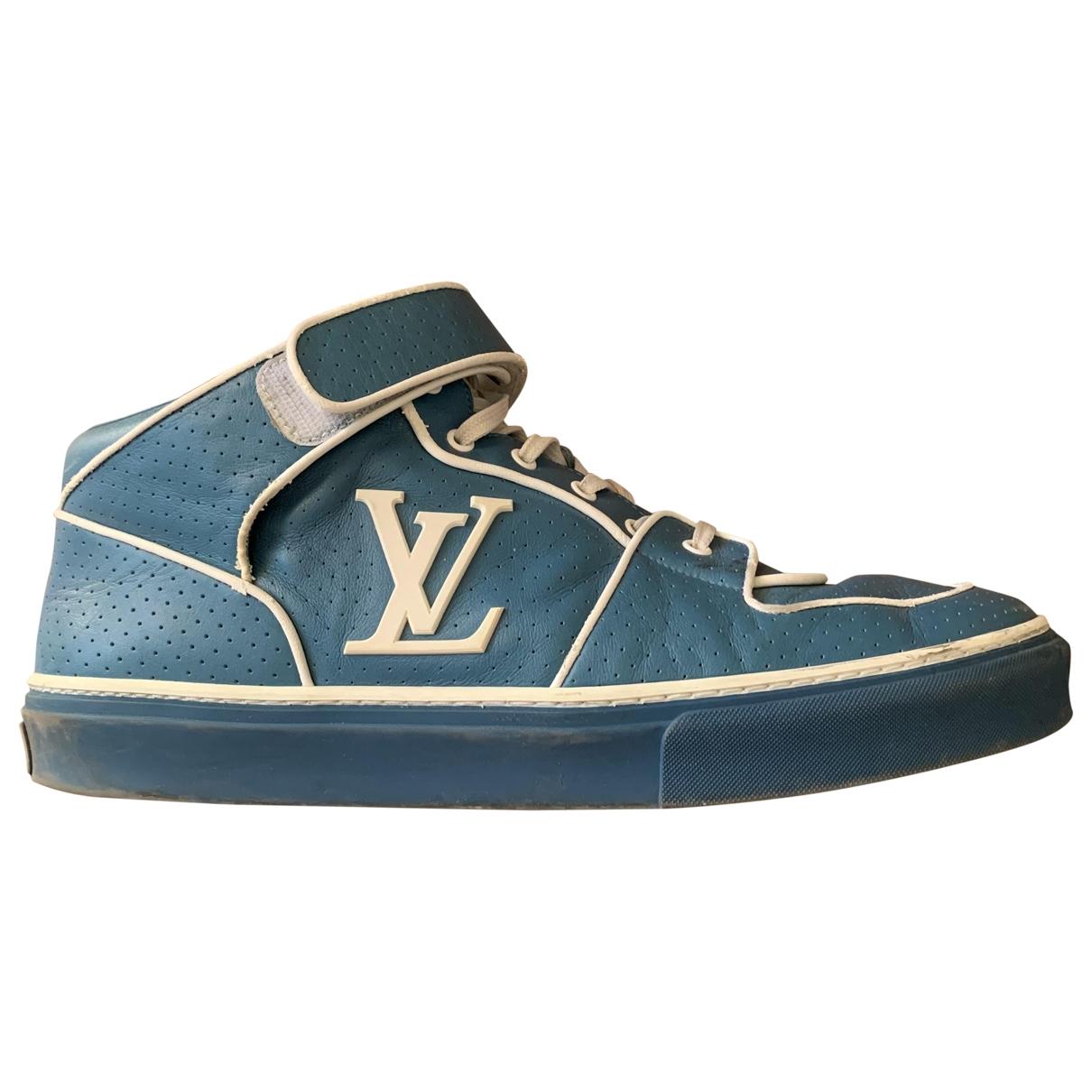 Louis Vuitton - Baskets   pour homme en cuir - bleu