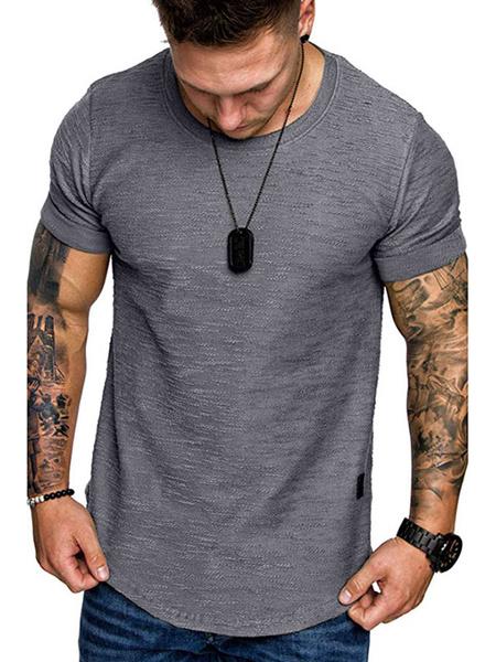 Milanoo Camisetas manga corta cuello joya verano top