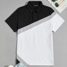 Men Colorblock Polo Shirt