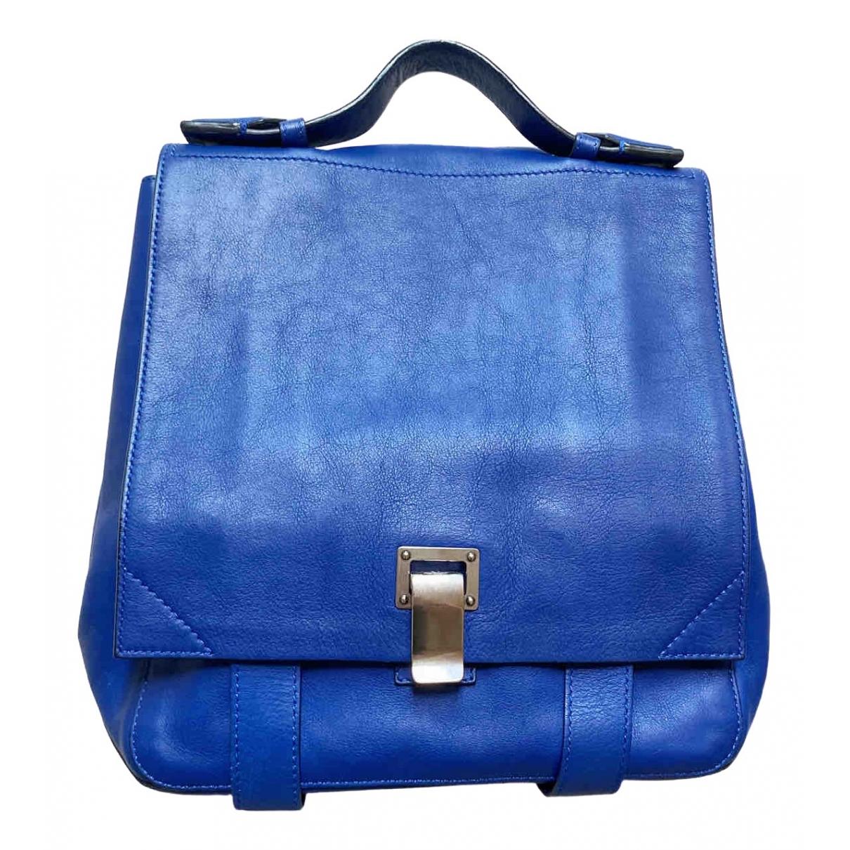 Proenza Schouler PS1 Backpack Rucksaecke in  Blau Leder