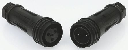 Bulgin Connector, 2 contacts Cable Mount Plug, Screw IP68, IP69K