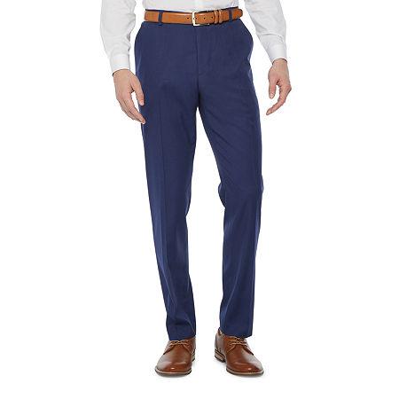 JF J.Ferrar Mens Regular Fit Suit Pants - Big and Tall, 50 30, Blue
