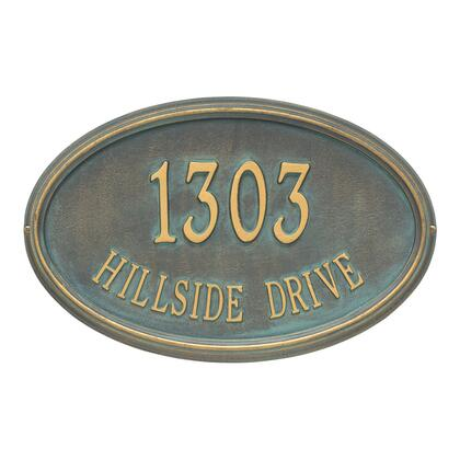 1301BV Personalized Concord Oval Plaque -Estate - Wall - 2 Line in