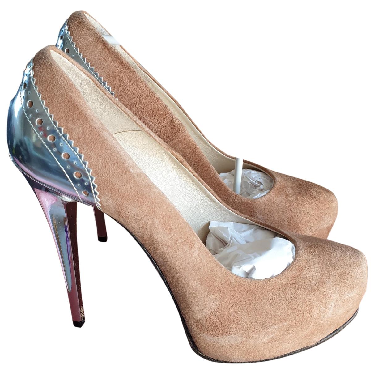 Chiara Ferragni \N Camel Suede Heels for Women 39 IT