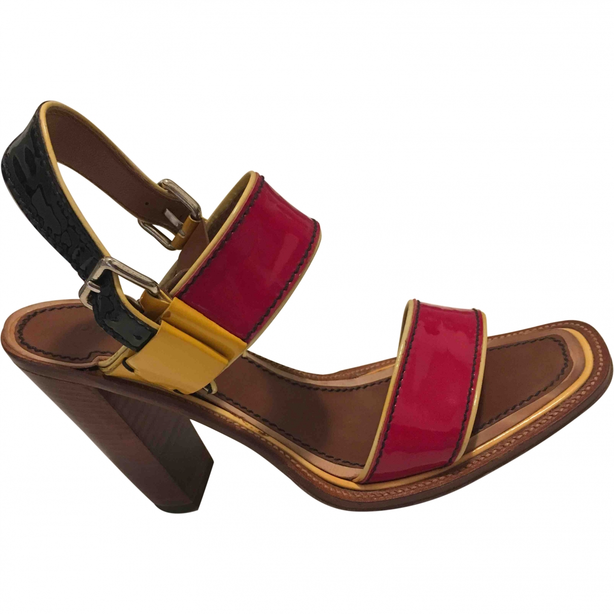 Prada \N Red Patent leather Sandals for Women 39 EU