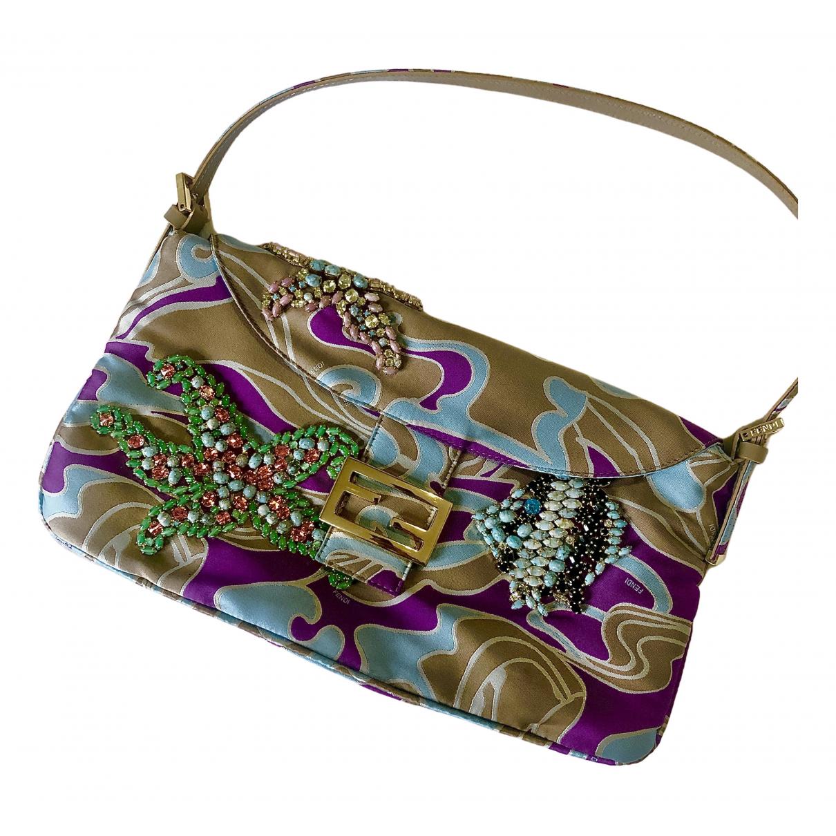 Fendi Baguette Handtasche in  Bunt Seide