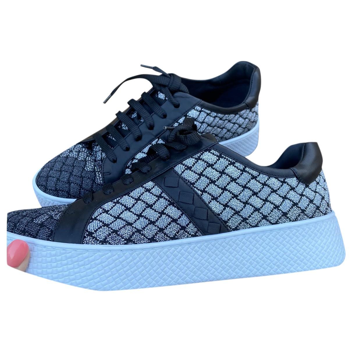 Bottega Veneta \N Sneakers in  Silber Tweed