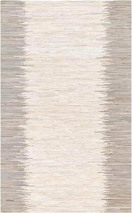 Zander ZND-1004 2' x 3' Rectangle Modern Rugs in Ivory  Beige  Khaki  Taupe  Medium