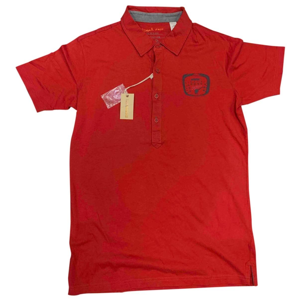 Diesel \N Poloshirts in  Rot Baumwolle