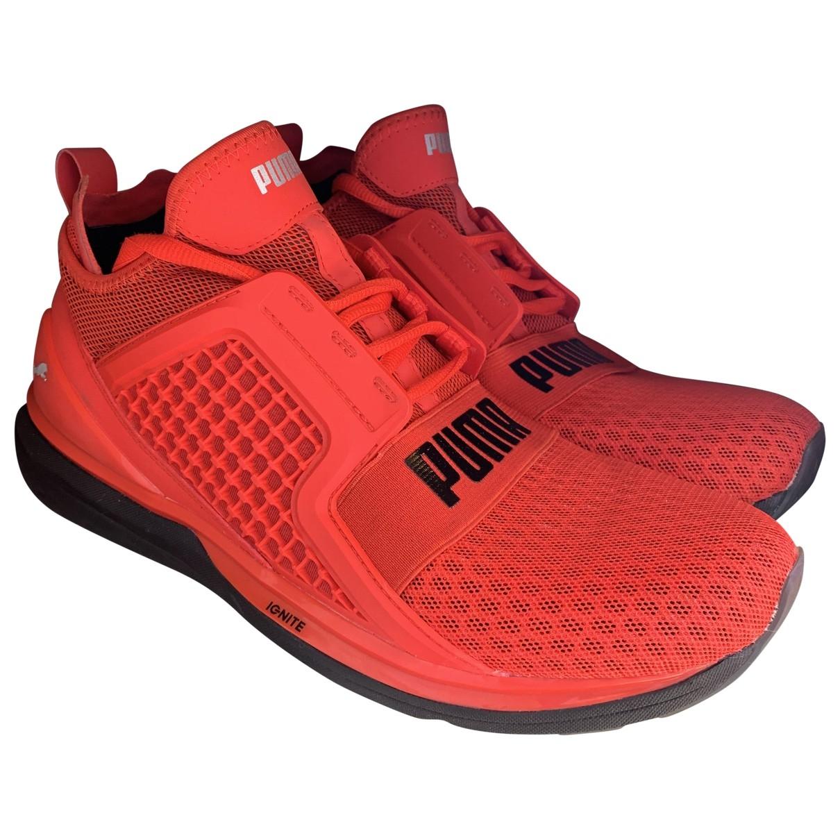 Puma - Baskets   pour homme en toile - rouge