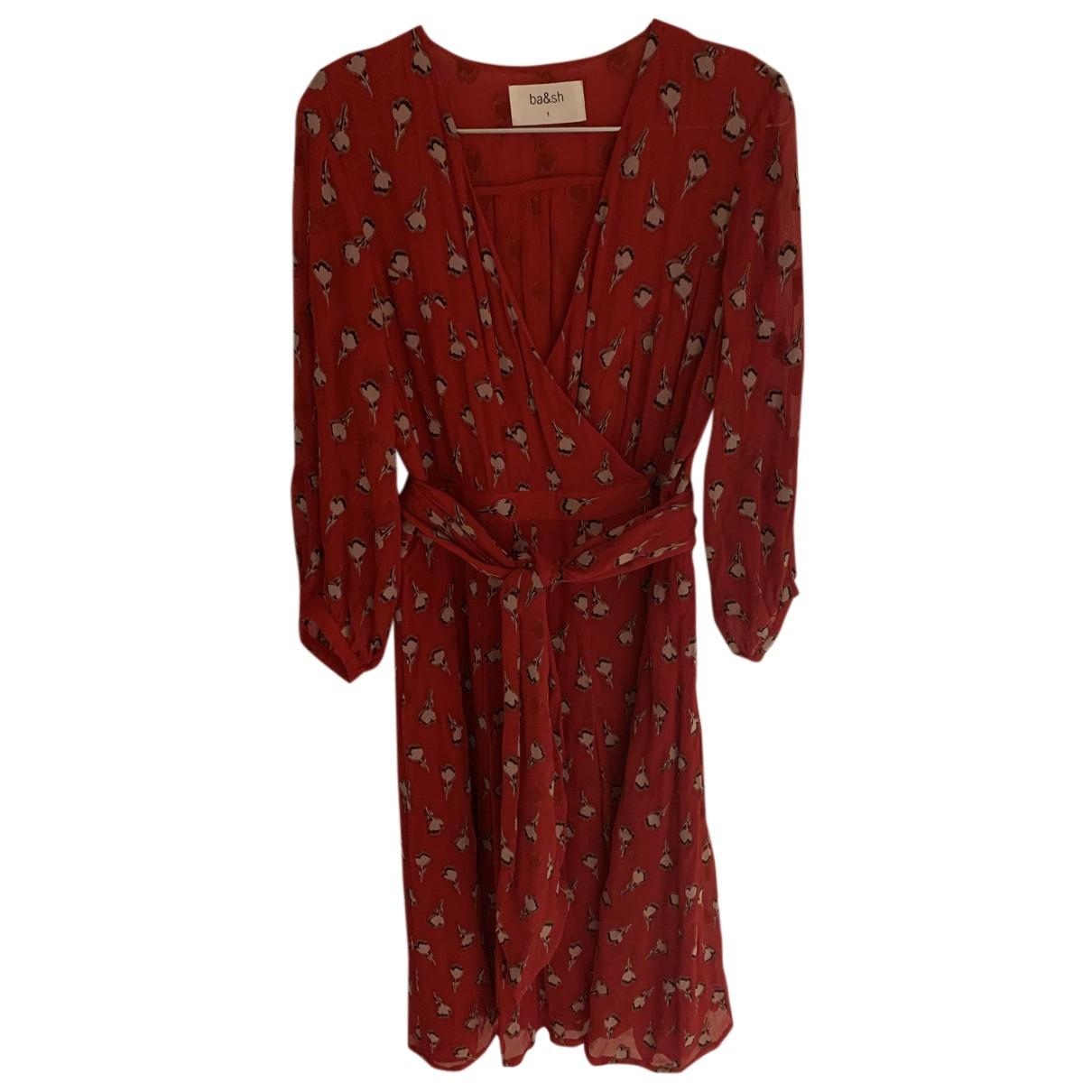 Ba&sh - Robe   pour femme en soie - rouge