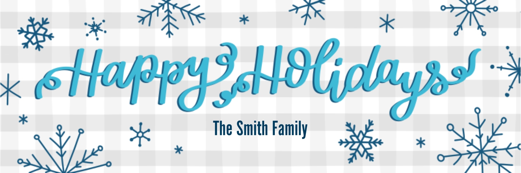 Holiday Photo Banner 2x6, Home Décor -Holiday Snowflakes