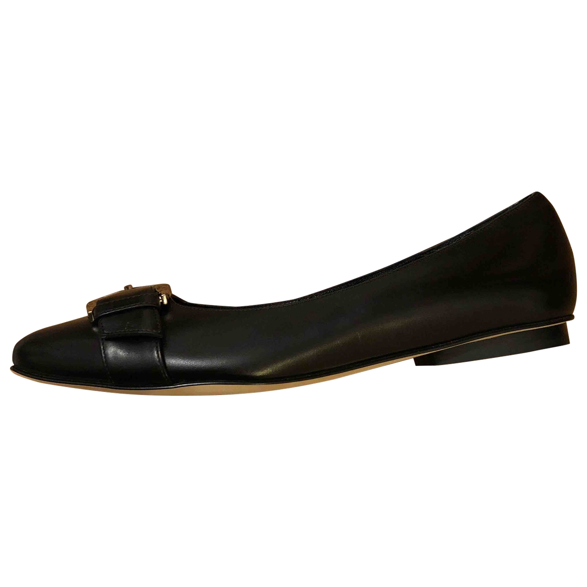 Brooks Brothers \N Black Leather Flats for Women 9 US