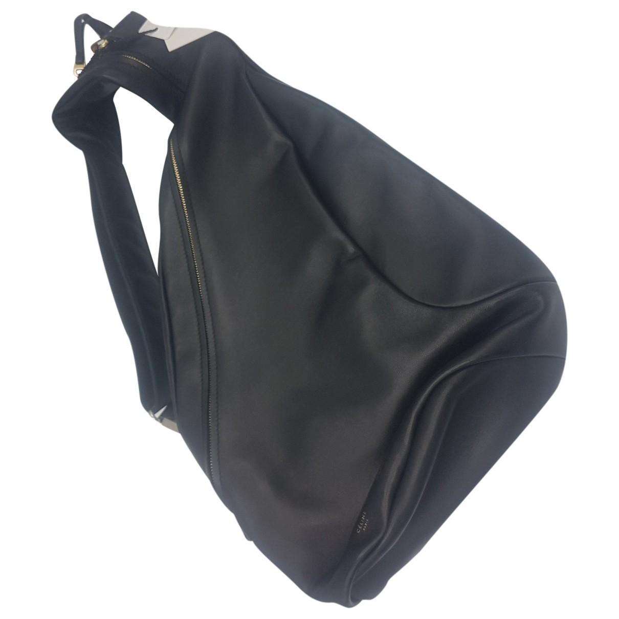 Celine - Sac a dos   pour femme en cuir - noir