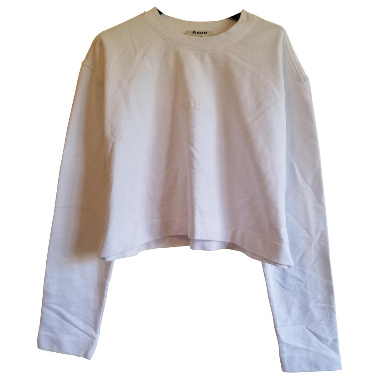 Acne Studios - Pull   pour femme en coton - blanc