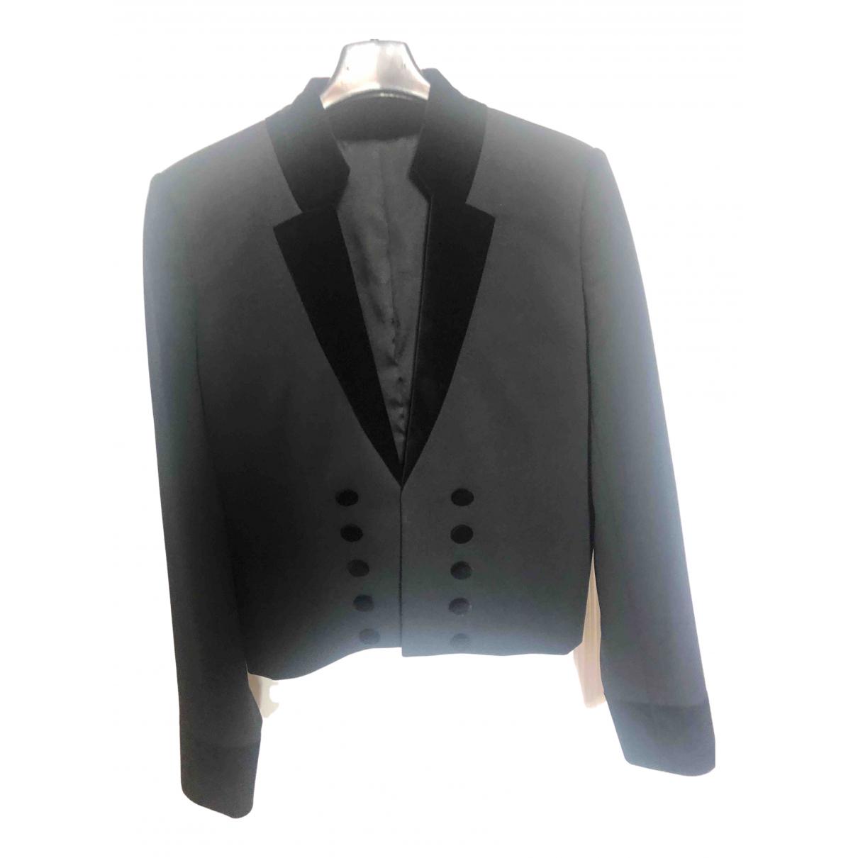 The Kooples N Black Wool jacket for Women 36 FR