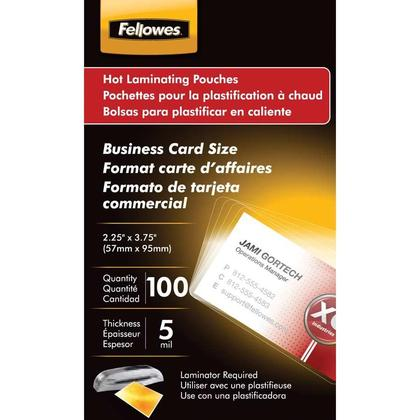 Fellowes@ pochettes de plastification - business card (100), 5 mil. 281485