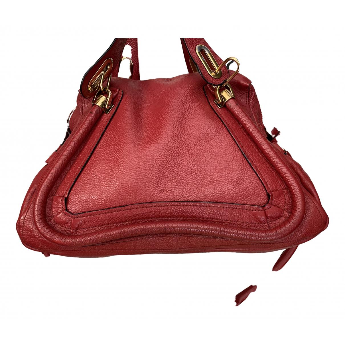 Chloé Paraty Red Leather handbag for Women N