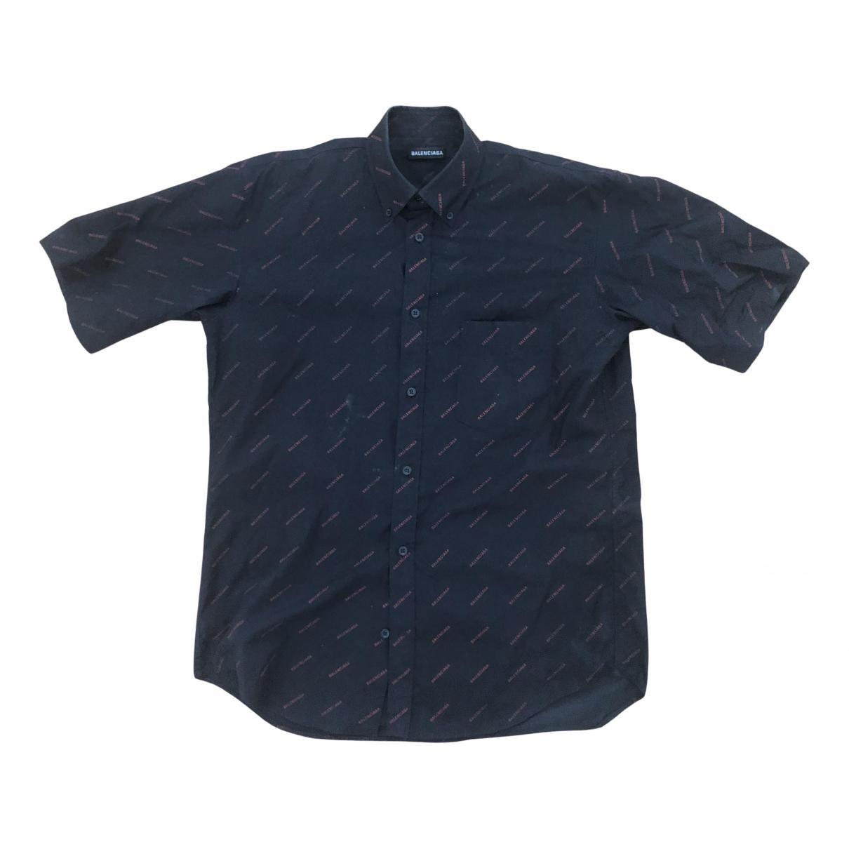 Balenciaga - Chemises   pour homme en coton - bordeaux
