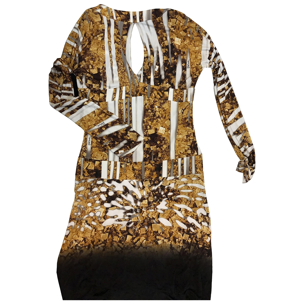 Just Cavalli \N Kleid in  Gold Viskose