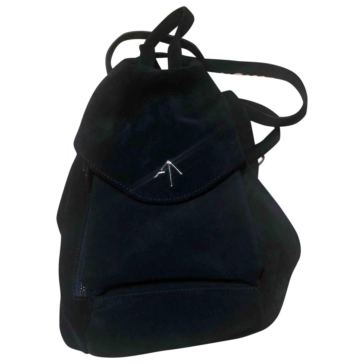 Manu Atelier \N Handtasche in  Marine Leder