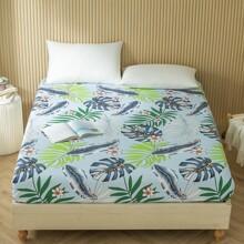 Bettuch mit Blatt Muster