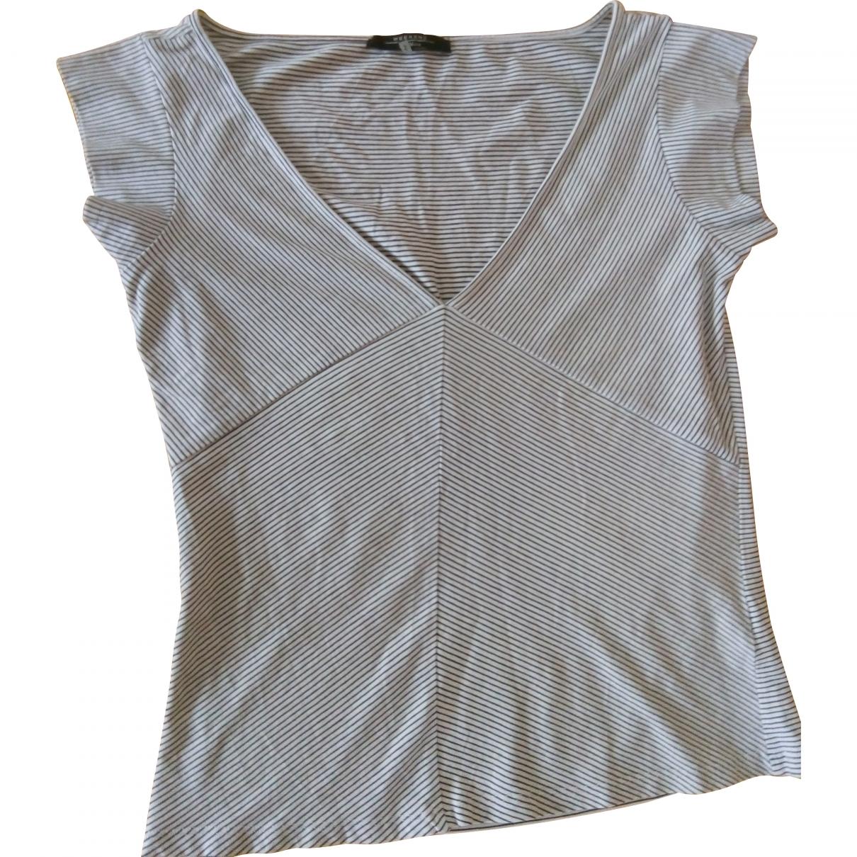 Max Mara Weekend - Top   pour femme en coton - blanc