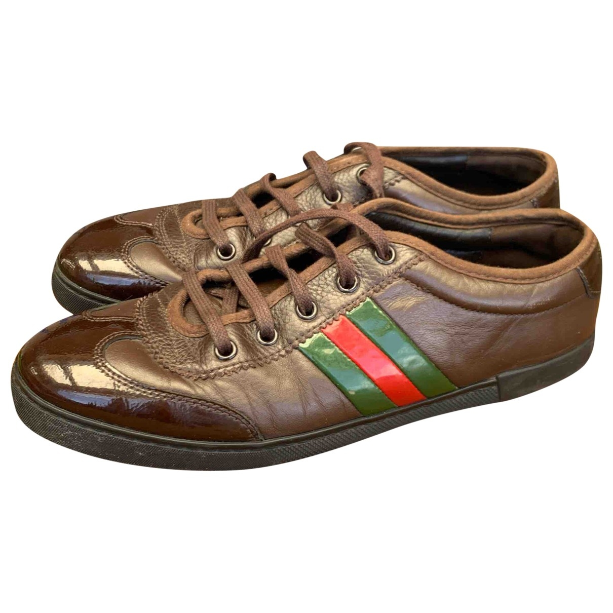 Gucci \N Brown Leather Trainers for Women 39 EU