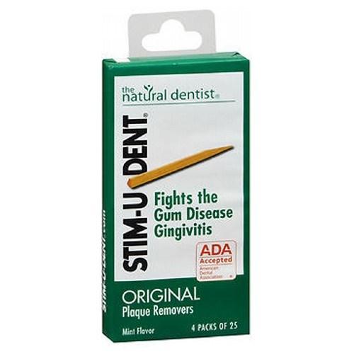 Stim-U-Dent Plaque Removers Mint 100 each (4 packs of 25 ) by Stim-U-Dent