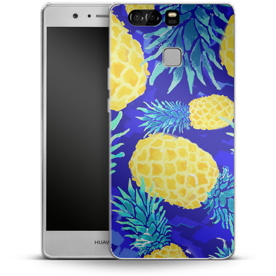 Huawei P9 Silikon Handyhuelle - Pineapple Crush von Mukta Lata Barua