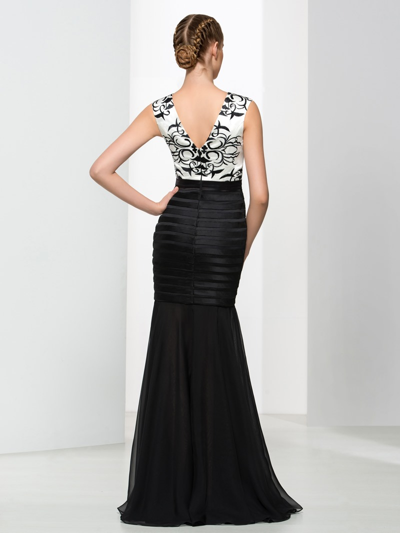 Ericdress Mermaid Straps Embroidery Sashes Evening Dress